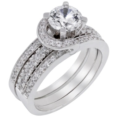 White gold and diamond engagement ring designed by jewellery designer
