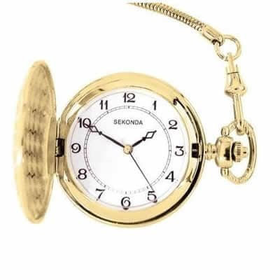 Sekonda Gents Gold Plated Pocket Watch.