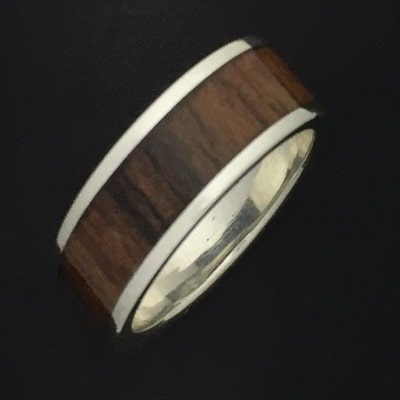 8mm Broad Dark Bamboo