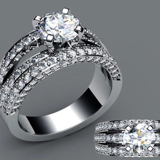 Platinum custom manufactured ring