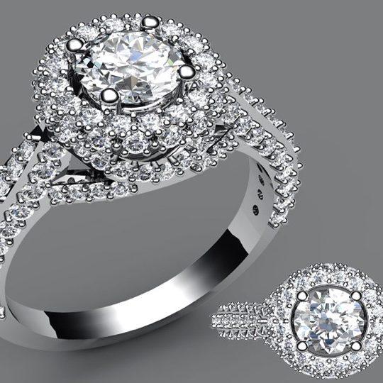 Diamond engagement custom made ring