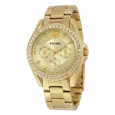 fossil-riley-multi-function-champagne-dial-ladies-watch-es3203